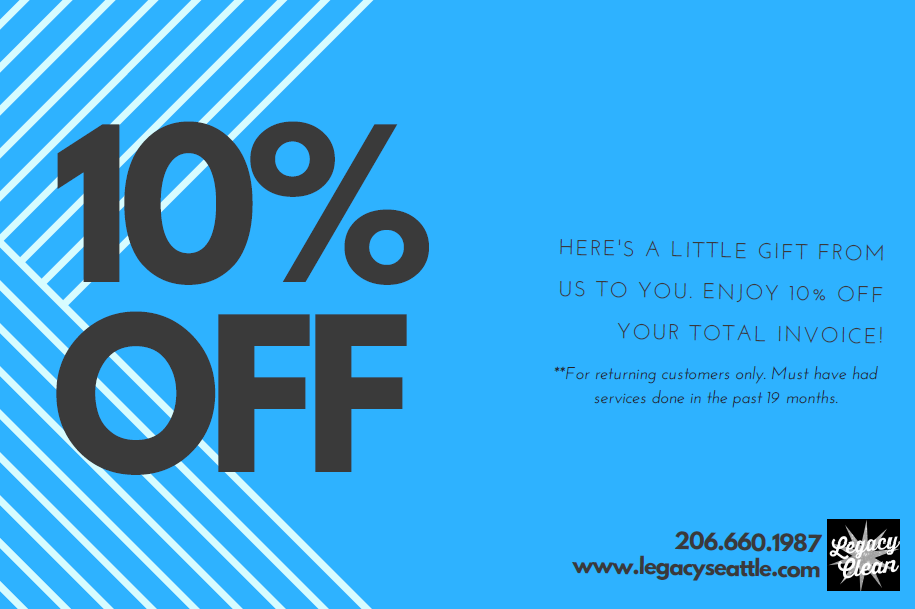 Legacy Services Seattle Carpet Cleaning Specials Coupons
